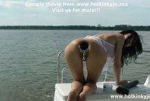 Anal XO speculum and deep insertions on the boat (public)