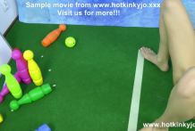 Anal bowling competition betwen Dirtygardengirl and Hotkinkyjo – bowling fuck, balls pushing and prolapse lick extreme