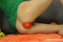 Big orange balls fun