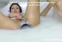 Hotkinkyjo open anal with XO speculum & milk bath