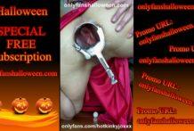 SPECIAL PROMO Happy Halloween Hotkinkyjo extreme anal speculum & gape